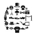 t-shirt icons set simple style vector image vector image