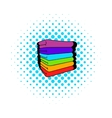 towel stack icon comics style vector image vector image