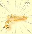 typography slogan vintage with summer california vector image vector image