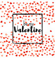 valentine background with gold glitter hearts vector image vector image