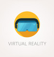 vr headset icon virtual reality glass flat style vector image vector image