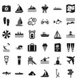 water activity icons set simple style vector image vector image