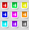 Wine Icon sign Set of multicolored modern labels vector image vector image