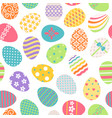 easter eggs seamless pattern vector image