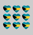 heart with the flag of the bahamas icons i love vector image