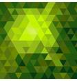 Shiny green mosaic background vector image