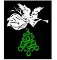Angel tree christmas vector image