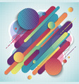 abstract colorful geometric pattern composition vector image vector image