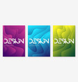 abstract gradient geometric wavy cover designs vector image