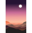 Abstract landscape of a dawn vector image