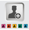 Add to friends vector image vector image
