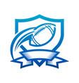 american football shield badge icon vector image vector image