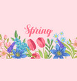 background with spring flowers vector image vector image