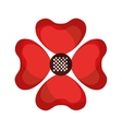 beautiful flower cute icon vector image