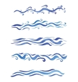 Beautiful watercolor swirls different styles vector image vector image