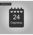 black and white style icon of calendar Ukraine vector image