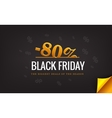 Black Friday banner with percent discount Big vector image vector image