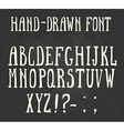 bold hand-drawn font in western style vector image