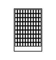 building black color icon vector image