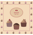Card with cupcakes vector image