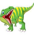 cartoon tyrannosaurus rex roaring vector image vector image