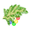 Christmas decoration Christmas branch vector image