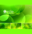 circle abstract background - green vector image