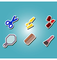 color icons with female stuff vector image