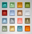 Colored set square web buttons icons template vector image