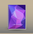 cover of diary or notebook ultra violet triangular vector image vector image