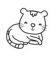 cute cat cartoon animal feline vector image vector image