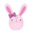 cute female rabbit character vector image