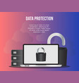 data protection concept design template vector image vector image