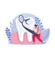dental health composition vector image vector image