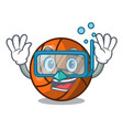 diving volleyball character cartoon style vector image
