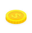 dollar coin in isometric style 3d money flat icon vector image