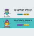 education web banners with smart owl vector image