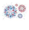 fireworks design on white background vector image vector image