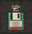 floppy retro backup plastic technology vector image vector image