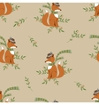 Funny foxy pattern vector image vector image