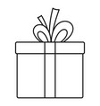 gift box icon outline style vector image