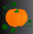 Halloween pumpkin with leaves vector image vector image