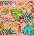 hand drawn beautiful seamless pattern world vector image