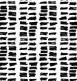 Hand drawn black brush circles and dots seamless vector image