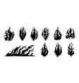 hand drawn fire vector image