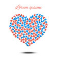 happy mothers day heart shaped design vector image vector image