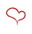 heart brush icon vector image vector image