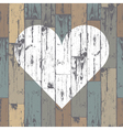heart on wooden pattern vector image vector image