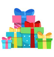 holiday presents vector image vector image
