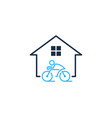 home bike logo icon design vector image vector image